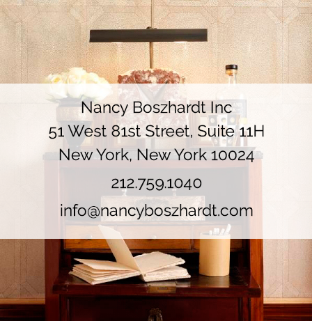 51 West 81st Street Suite 11H New York, NY 10024 212-759-1040 info@nancyboszhardt.com